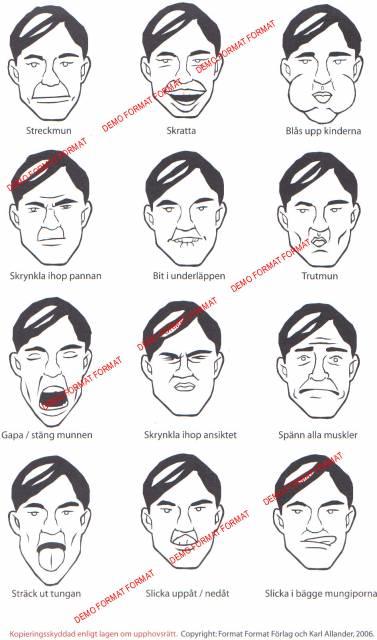 Utformningen av materialet har skett med tanke på personer som har svårt att  visuellt avkoda bilder (tex till följd av stroke)